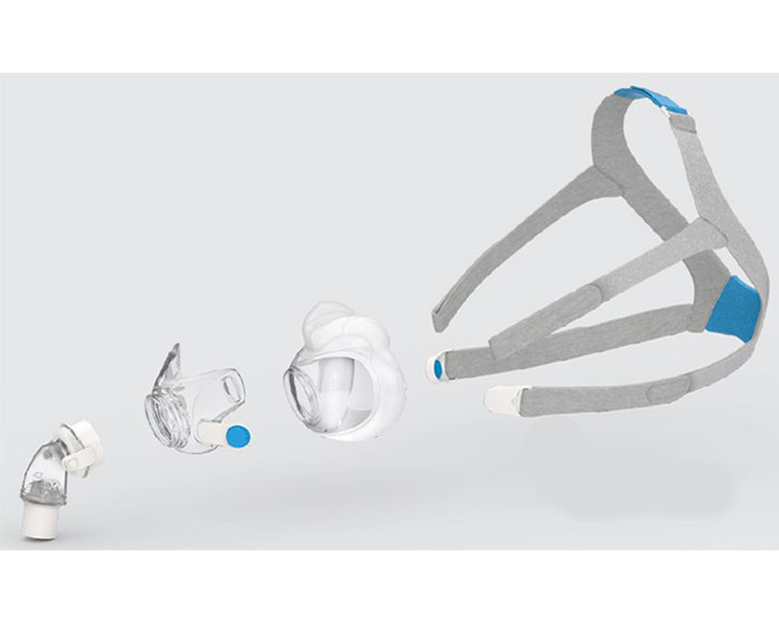 ResMed AirFit F30 Full Face CPAP Mask exploded view