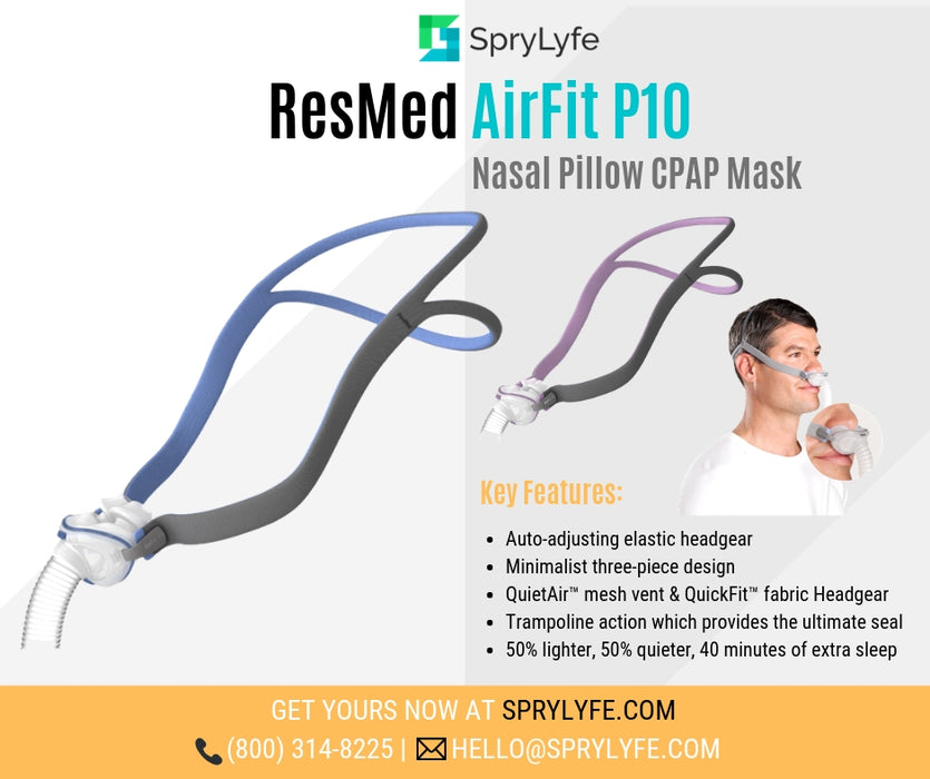 ResMed AirFit™ P10 Nasal Pillows CPAP Mask brochure