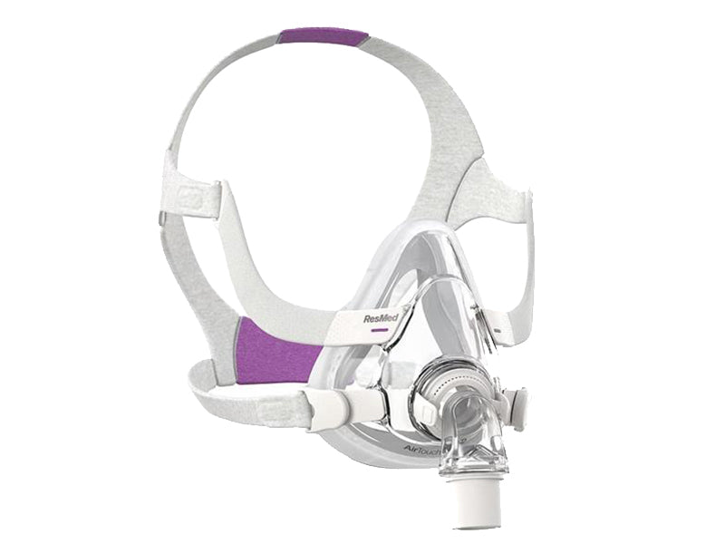 ResMed AirTouch F20 Full Face CPAP mask with headgear for her