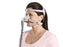 ResMed Mirage FX Nasal CPAP Mask for Her with Headgear on a woman