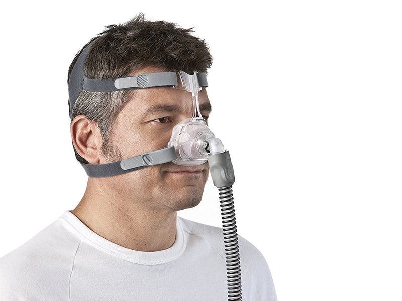 ResMed Mirage FX Nasal CPAP Mask with Headgear on a man