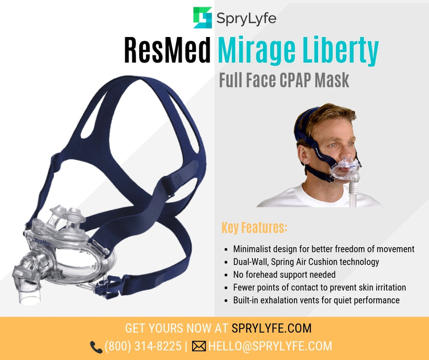 ResMed Mirage Liberty Full Face CPAP mask brochure