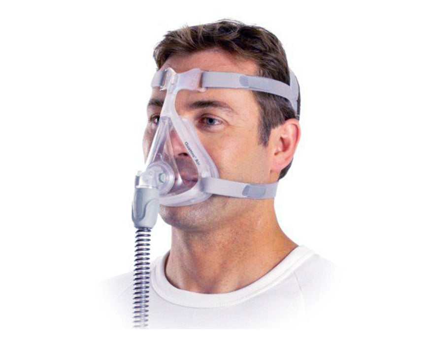 ResMed Quattro Air Full Face CPAP mask for him worn by a male model