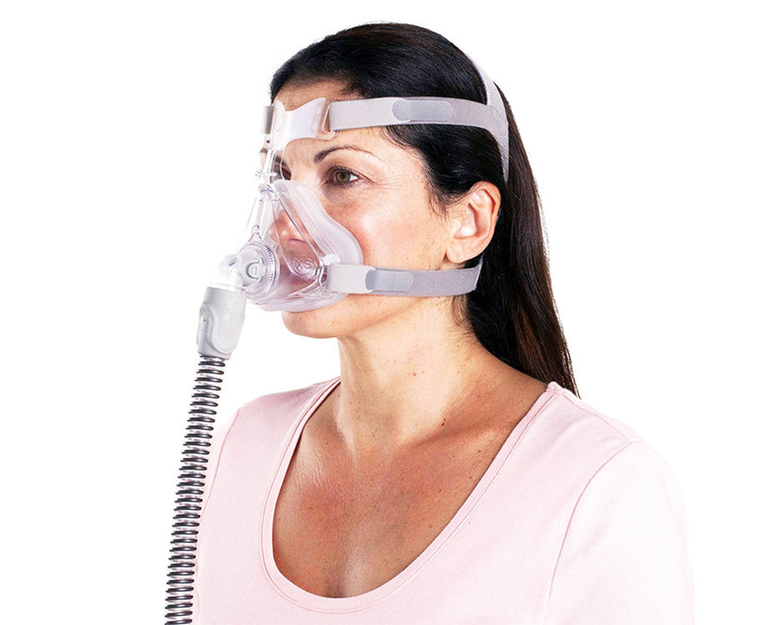 ResMed Quattro Air Full Face CPAP mask for her worn by a female model