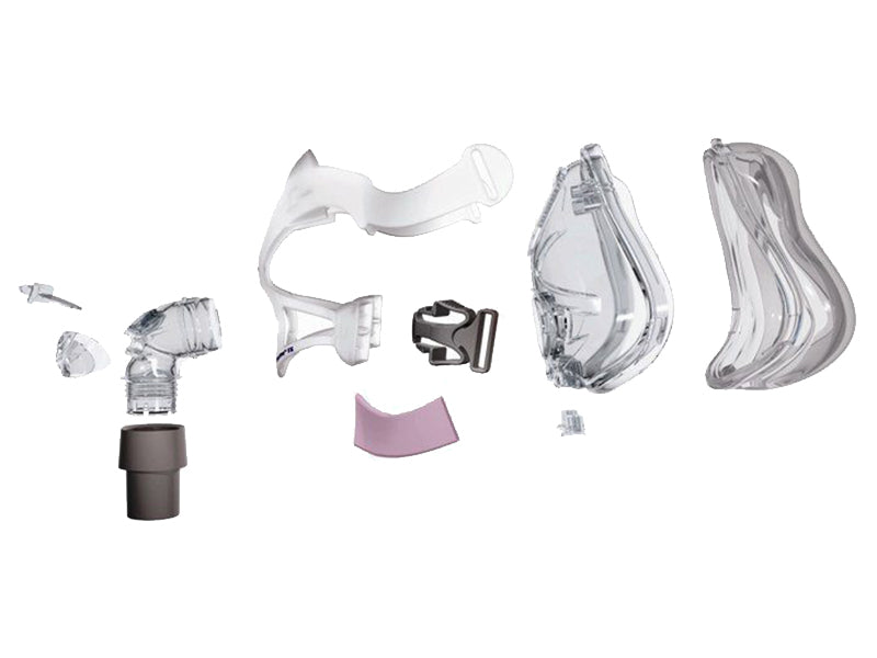 ResMed Quattro FX Full Face CPAP mask exploded view