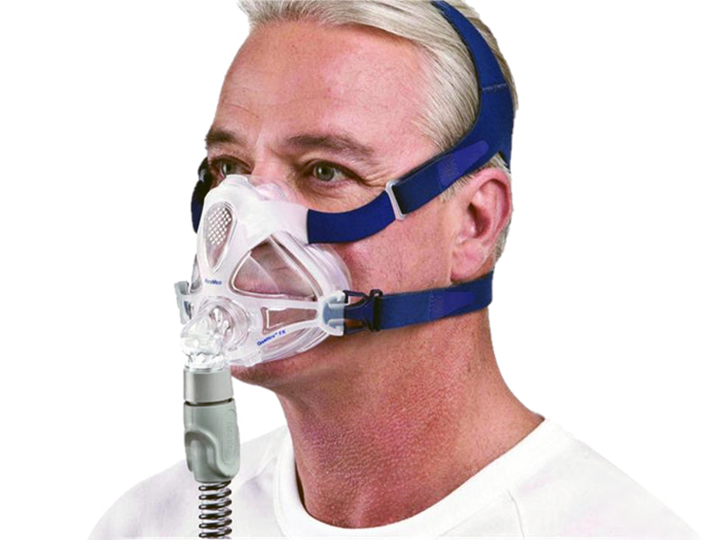 ResMed Quattro FX Full Face CPAP mask on a man