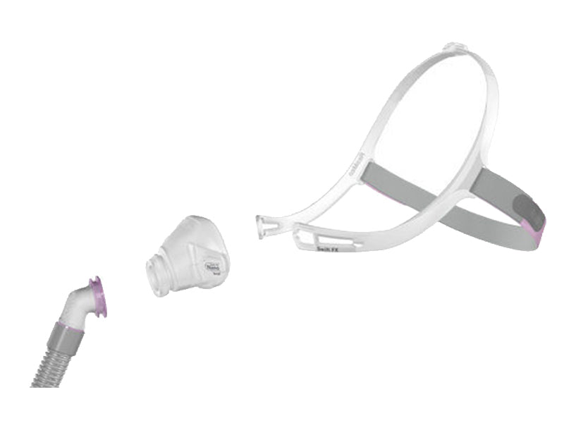 ResMed Swift FX Nano Nasal CPAP mask exploded view