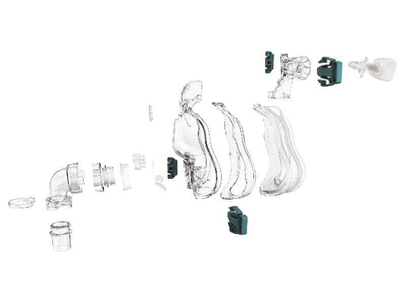 ResMed Ultra Mirage Full Face CPAP Mask exploded view