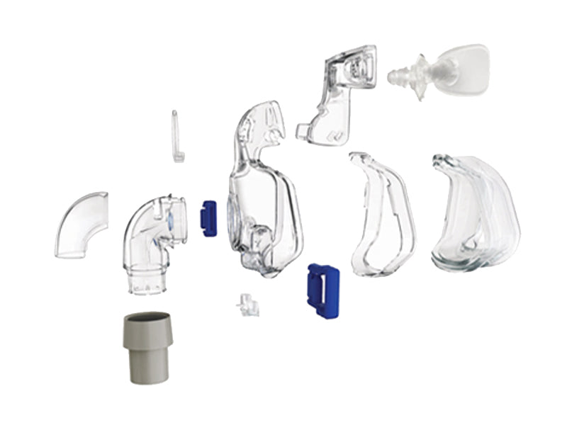 ResMed Ultra Mirage II Nasal CPAP mask individual parts exploded view
