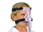 Woman wearing the ResMed Ultra Mirage II Nasal CPAP mask with headgear