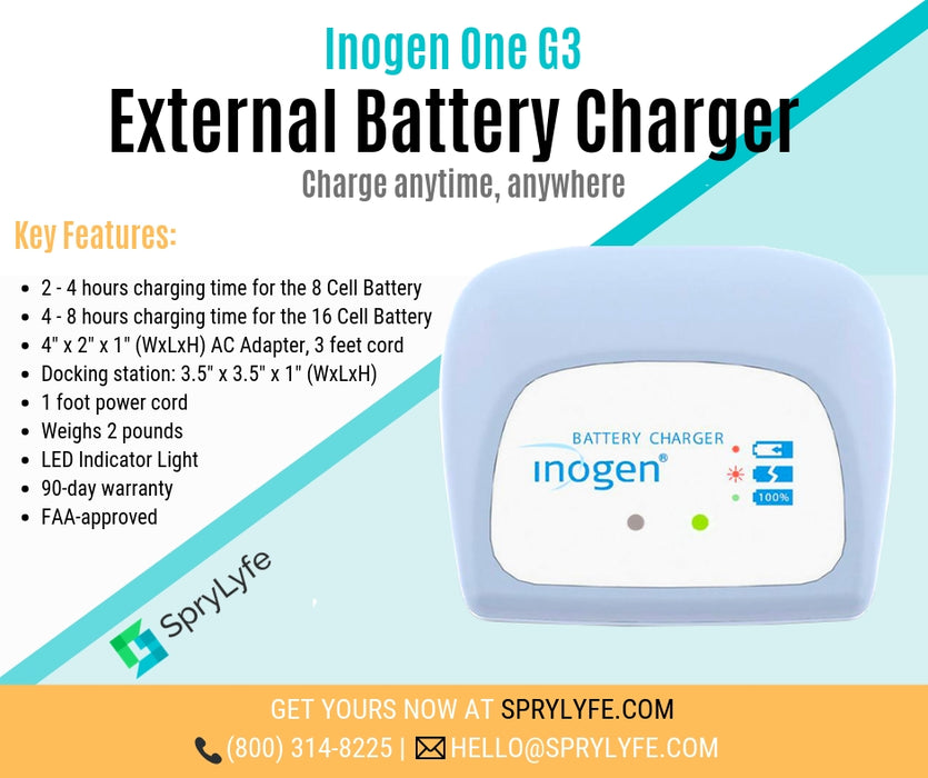 Inogen One G3 external battery charger list of key features