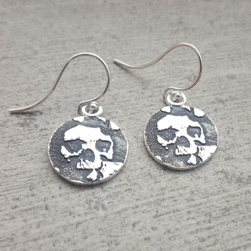 Catacombs Skull Earrings