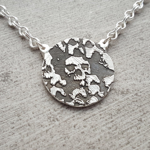 Grand Canyon Tree & Handmade Fine Silver Chain