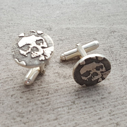 Beer Speak Sterling Silver Cuff Links