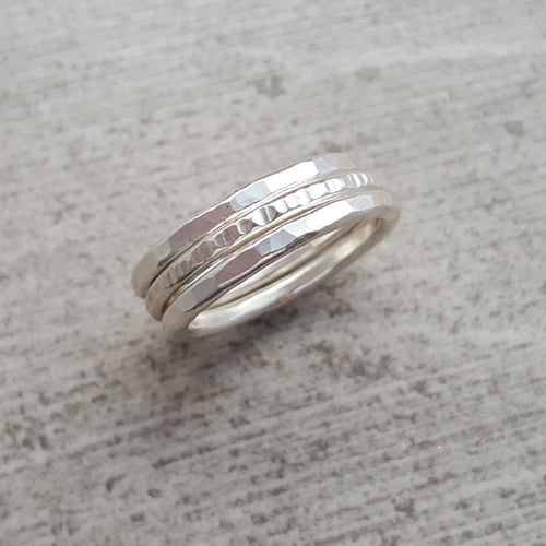 Fine Silver Stacking Rings