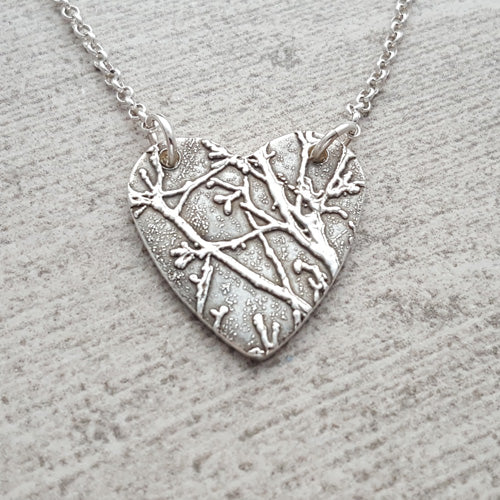 Small Grand Canyon Tree Heart Necklace
