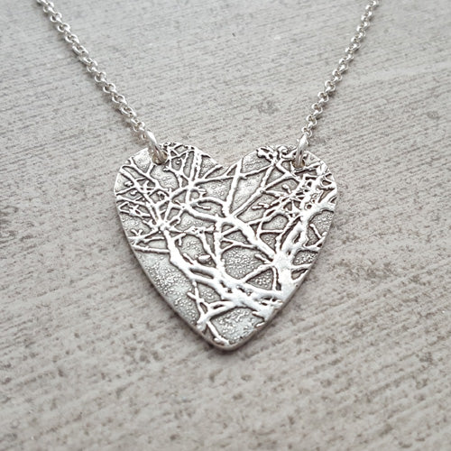 Large Grand Canyon Tree Heart Necklace