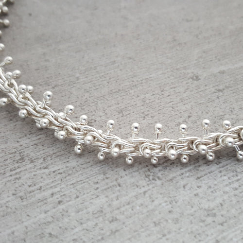 Fine Silver Caterpillar Necklace