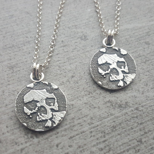 Set of Two Catacombs Skull Necklaces