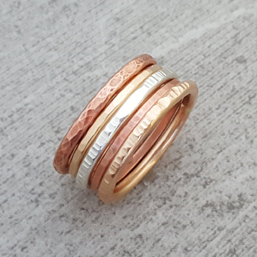 Multi Metal Stack Rings