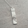Horizontal Beer Speak Necklace with Moissanite