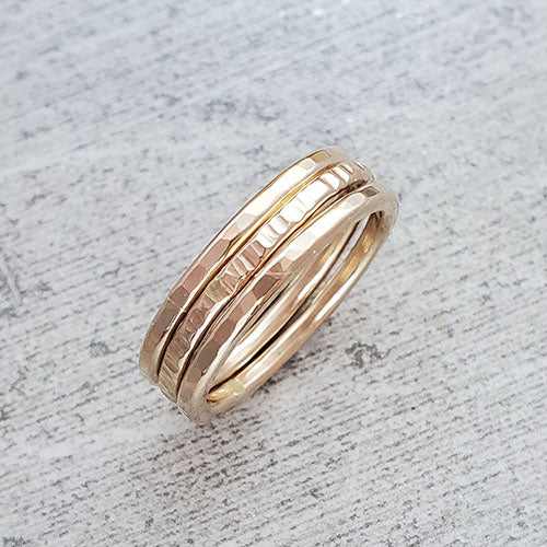 14k Gold Fill Stacking Rings