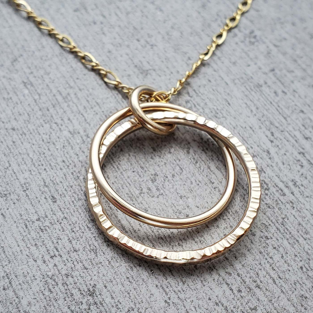 14k Gold Fill Double Hoop Necklace
