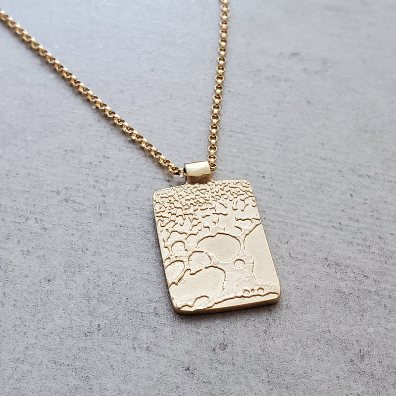 Beer Speak 14k Gold Tree Necklace