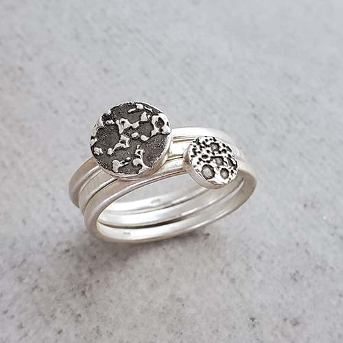 Double Beer Dot Stacking Rings