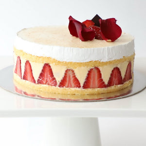 Fraisier birthday cake | Strawberry cake | Nut free celebration cakes