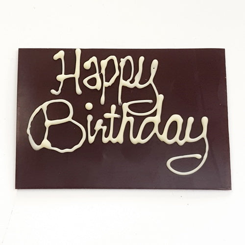 Personalised birthday message on a cake | Chocolate message