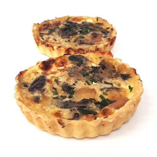 Savoury tart | Mushroom and smoked Havarti cheese | Vegetarian