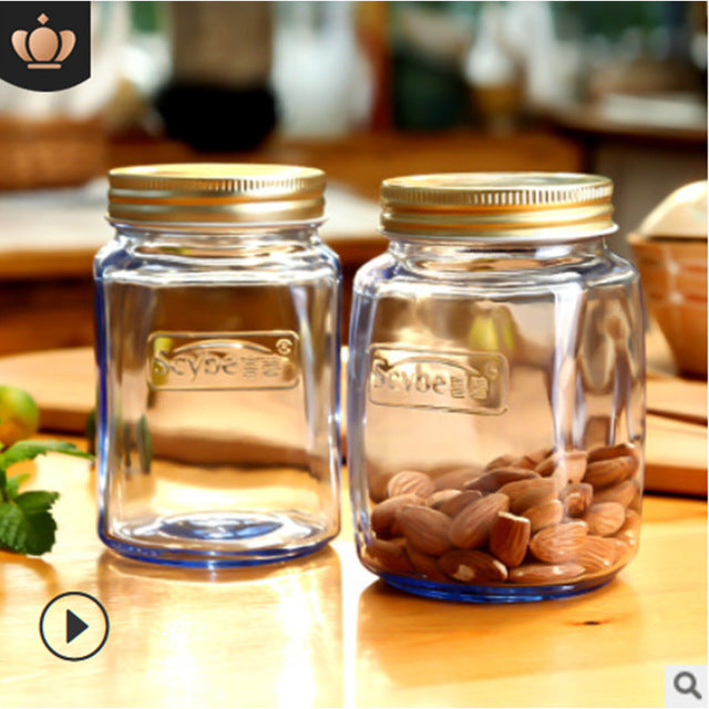 Stained Glass Sealed Cans Kitchen Storage Jars Honey Dried Fruit Bottles European And American Style Multifunctional Storage Bot