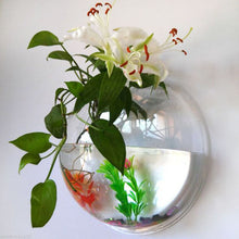 Afbeelding in Gallery-weergave laden, Home Semicircular Wall Hanging Glass Vase Hydroponic Terrarium Fish Tank Plant Flower Home Decor Wedding Decoration
