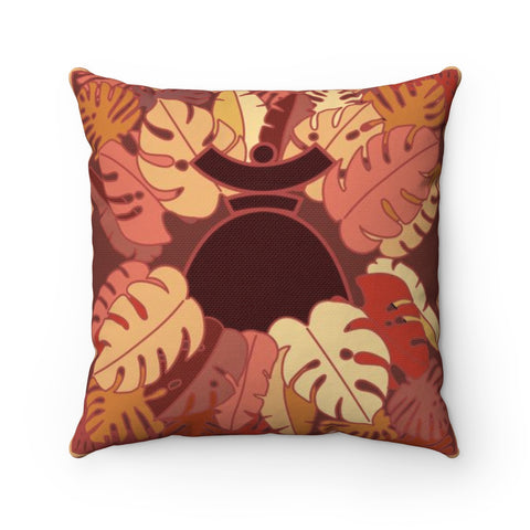 "Spun Polyester Square Pillow ""Dolores Brown Jungle"""