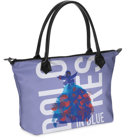 "Dolores Hand bag Zip-Top ""In Blue"""