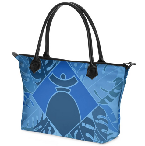 "Dolores Hand bag Zip-Top ""Blue Jungle"""