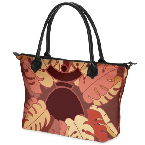 "Dolores Hand bag Zip-Top ""Brown Jungle"""