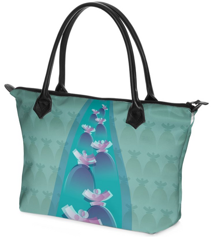 "Dolores Hand bag Zip-Top ""Ocean"""
