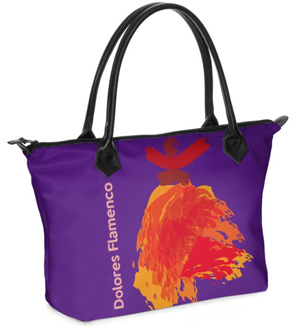 "Dolores Hand bag Zip-Top ""Flamenco"""