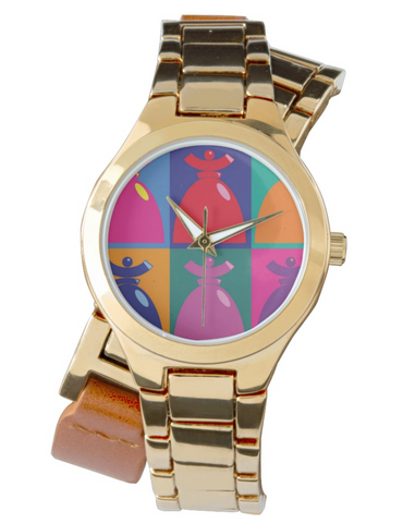 "Women's Wraparound Gold Watch "" Pop Dolores"""