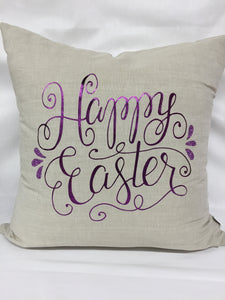 "Happy Easter pillow 18""x18"" with insert"