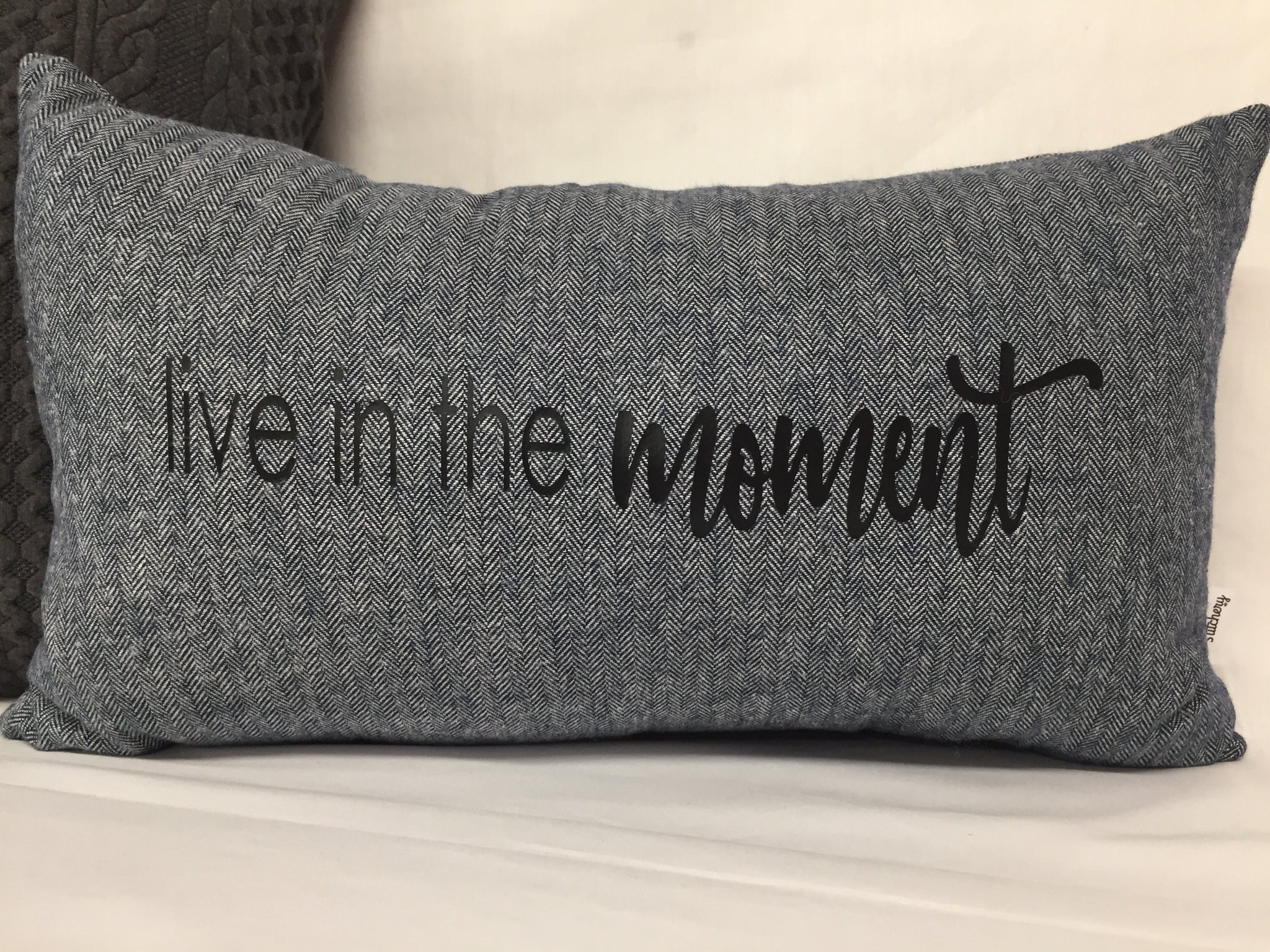 "Live In The Moment lumbar pillow 12""x20"""