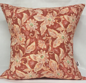 "Spring Coral pillow 18""x18"""