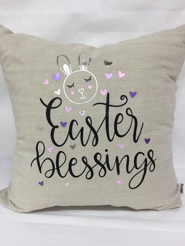 "Easter Blessings pillow 18""x18"" with insert"