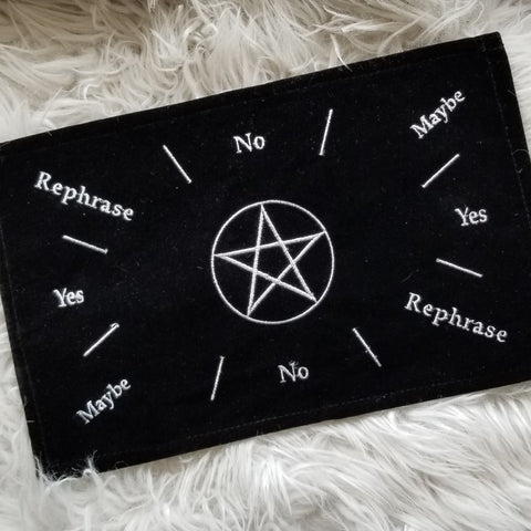Black Velvet Pentacle Mat for Divination - Green Moon Apothecary Ltd