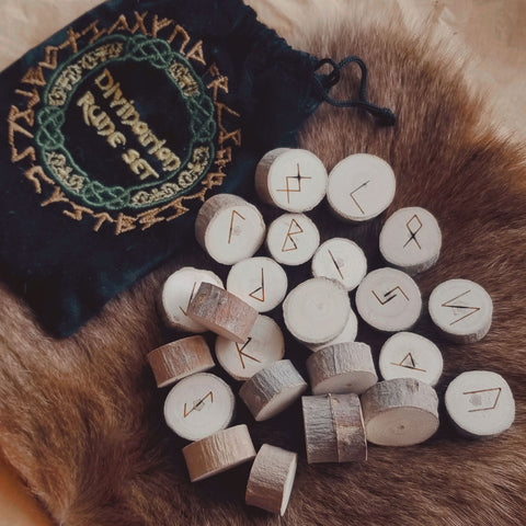 Divination Wooden Rune Set - Green Moon Apothecary Ltd