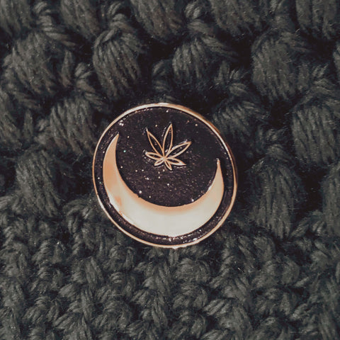 Green Moon First Anniversary Pin - Green Moon Apothecary Ltd