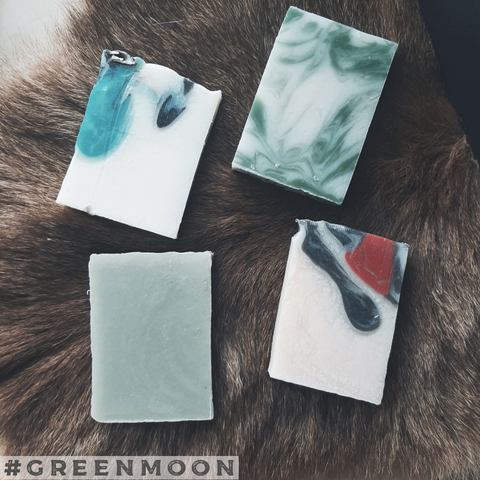 Four Medicines Soap Set (Sweetgrass, Cedar, Sage, & Tobacco) - Green Moon Apothecary Ltd