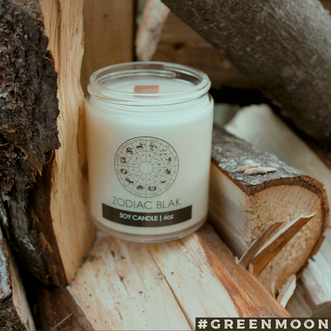 Zodiac Blak Campfire Scented Soy Candle